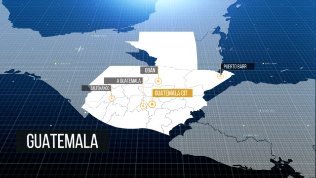 guatemala map 4k - guatemala stock videos & royalty-free footage