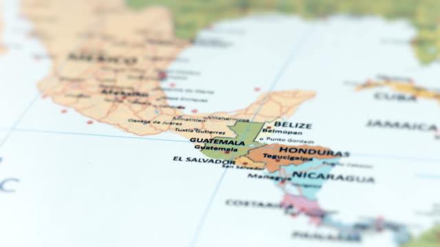 stockvideo's en b-roll-footage met noord-amerika-guatemala op wereldkaart - noord amerikaanse volksstammen