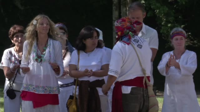 Guatemalan Mayans and tourists kick off the ceremonies ahead of December 21 singled out by the Mayan Long Count calendar as the end of a 5000 year...