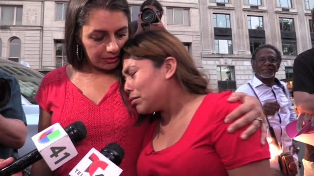 stockvideo's en b-roll-footage met guatemalan mother whose 3 children were taken from her at the border arrives in new york after a 4 day drive from arizona detention center eloy she... - deportation