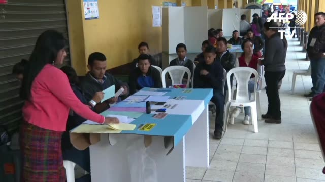 GTM: Polls open for Guatemala's presidential election