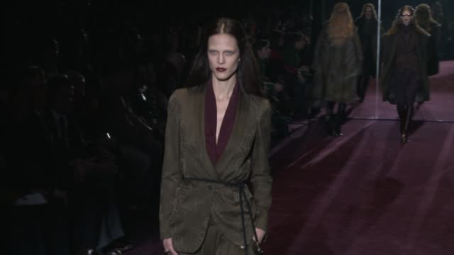 gucci milan fashion week a/w 2012 on february 22, 2012 in milan, italy - glamour stock videos & royalty-free footage
