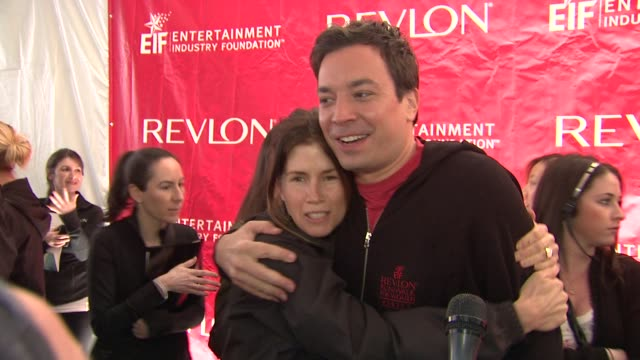 gucci westman and jimmy fallon at the 14th annual entertainment industry foundation revlon run/walk for women at new york ny - jimmy fallon stock videos and b-roll footage