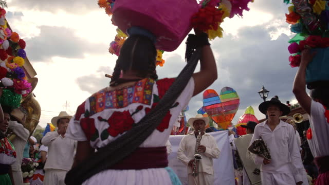 guelaguetza celebration in oaxaca - mexican ethnicity stock videos & royalty-free footage