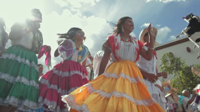 guelaguetza celebration in oaxaca - latin america stock videos & royalty-free footage
