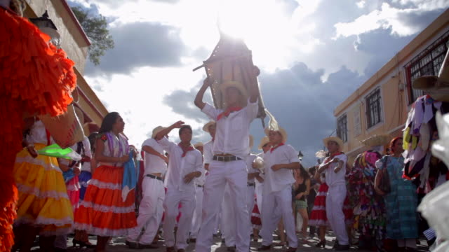 guelaguetza celebration - north american tribal culture stock videos & royalty-free footage