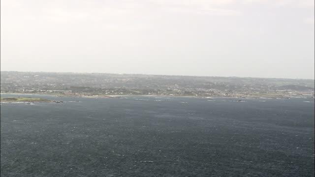 Guernsey coast - Aerial View - helicopter filming,  aerial video,  cineflex,  establishing shot,  Guernsey