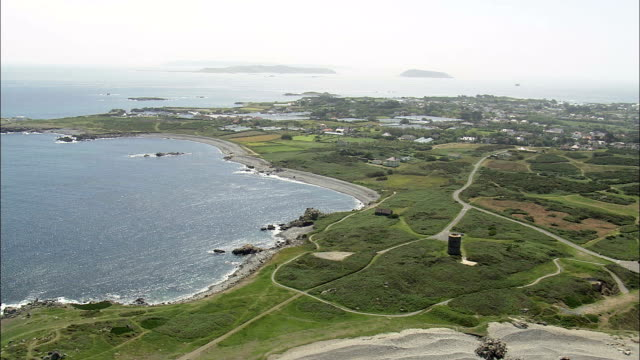 Guernsey coast - Aerial View - helicopter filming,  aerial video,  cineflex,  establishing shot,  Guernsey