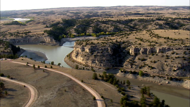 Guernsey State Park  - Aerial View - Wyoming, Platte County, United States