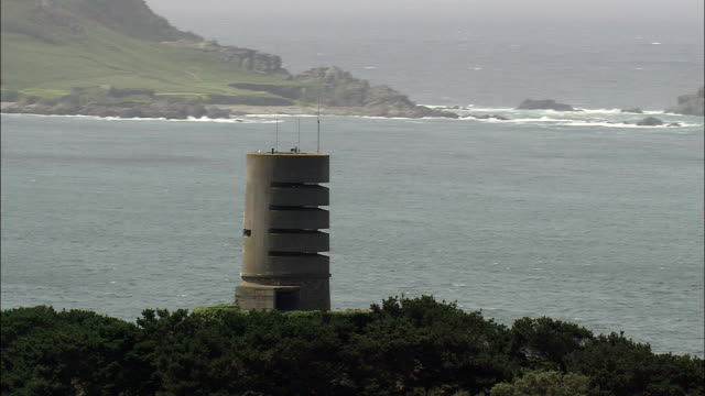 Guernsey World War 2 Bunker  - Aerial View - helicopter filming,  aerial video,  cineflex,  establishing shot,  Guernsey