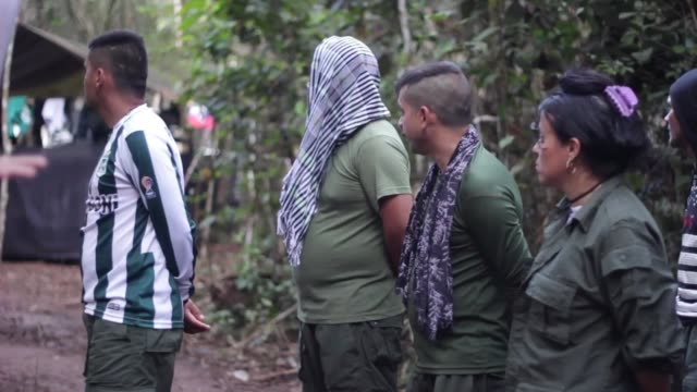 guerrilla camp of the farc-ep in the savannah of yari. men and women of the revolutionary group live some comfort since the area is in amnistia by... - fighter stock videos & royalty-free footage