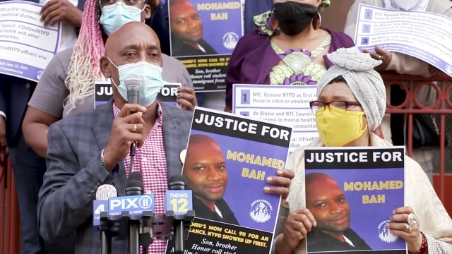guest appearance by eric vassell, father of saheed vassell, whose son was shot dead by the nypd. hawa bah, mother of mohamed bah, killed by nypd in... - prejudice stock videos & royalty-free footage