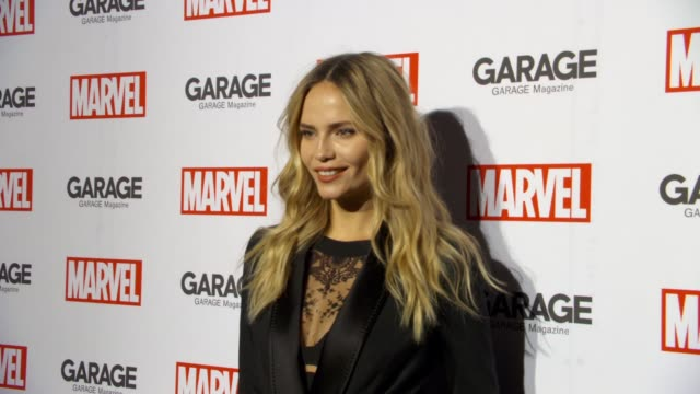 Guest at Garage Magazine and Marvel Turn Supermodels Into Super Heroes on February 11 2016 in New York City