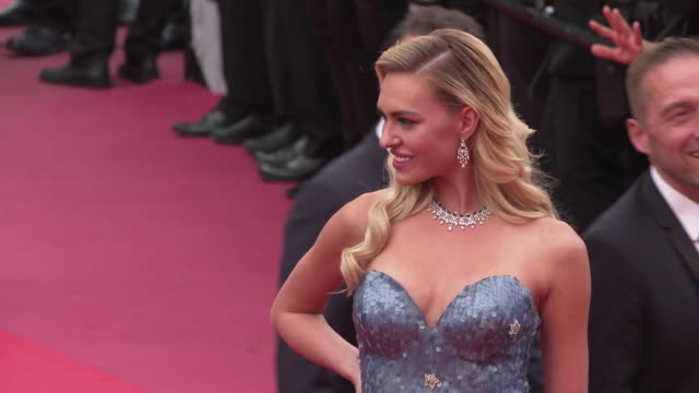 guest at 'once upon a time in hollywood ' red carpet arrivals the 72nd cannes film festival at grand theatre lumiere on may 21 2019 in cannes france - grand theatre lumiere stock videos & royalty-free footage