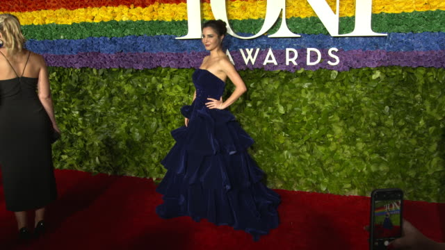 guest at the 73rd annual tony awards arrivals at radio city music hall on june 09 2019 in new york city - annual tony awards stock videos & royalty-free footage