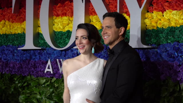 guest at the 73rd annual tony awards - arrivals at radio city music hall on june 09, 2019 in new york city. - annual tony awards stock videos & royalty-free footage