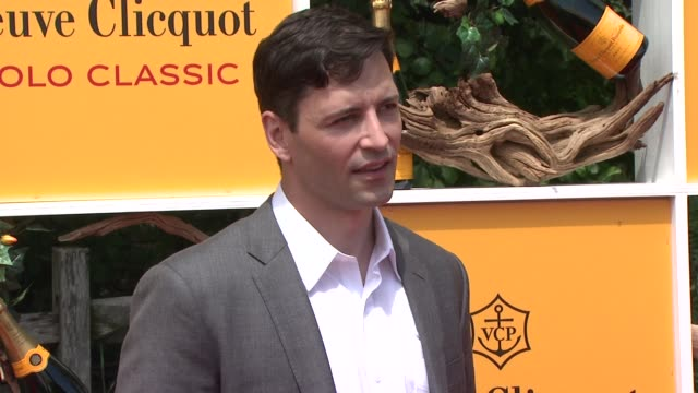 guest at the fifth annual veuve clicquot polo classic at liberty state park on june 02 2012 in jersey city new jersey - 動物を使うスポーツ点の映像素材/bロール