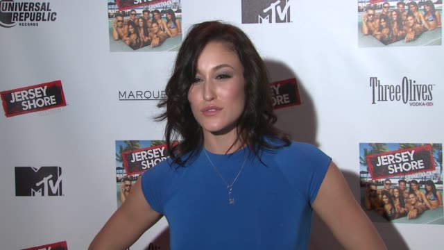guest at the 'jersey shore' soundtrack release party at new york ny - soundtrack stock videos & royalty-free footage