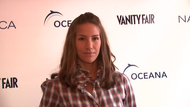 guest at the oceana nautica vanity fair celebrate world oceans day at new york ny - oceana stock videos & royalty-free footage