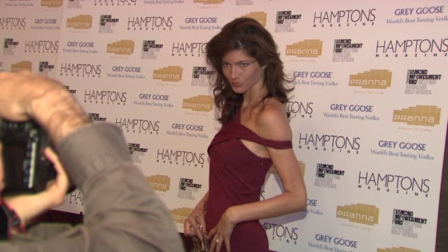 guest at the serena williams hosts hamptons magazine cover party with grey goose at new york ny. - グレイグース点の映像素材/bロール