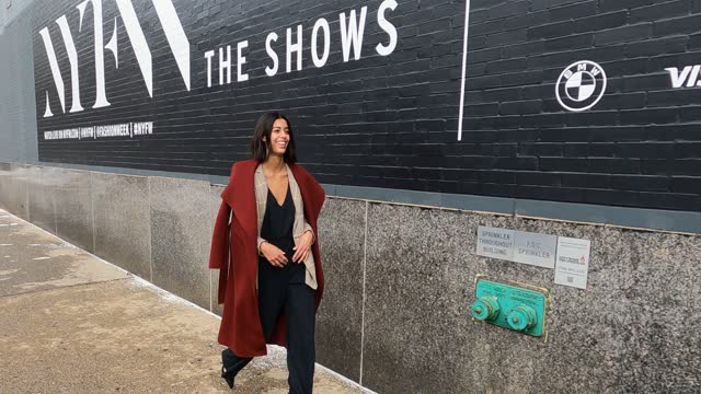 guest attends new york fashion week: the shows at spring studios on february 14, 2021 in new york city. - raw footage stock videos & royalty-free footage