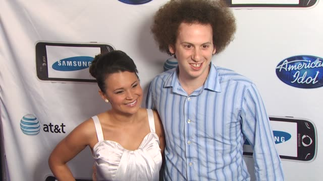 guest , josh sussman at the 'american idol' top 24 semi-finalists event at west hollywood ca. - 準決勝点の映像素材/bロール