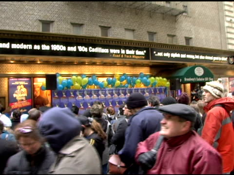 guests and fans at the first anniversary of monty python's 'spamalot' celebration with world's largest coconut orchestra at shubert alley in new... - monty python stock videos & royalty-free footage