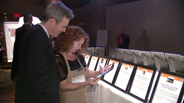 guests and signage at food bank for new york city can do awards dinner gala at cipriani, wall street on april 21, 2015 in new york city. - gala stock videos & royalty-free footage