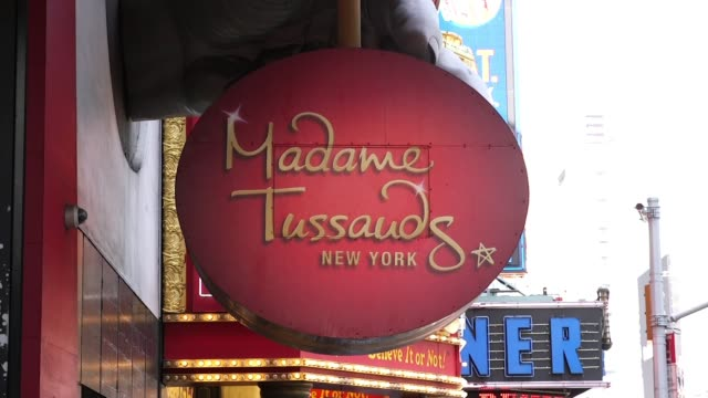 atmosphere guests and signage at madame tussauds new york reveals meghan markle figure at madame tussauds on may 09 2018 in new york city - madame tussauds stock videos & royalty-free footage