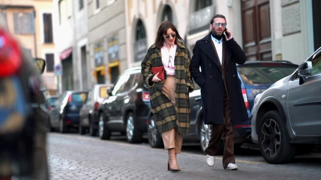 Guests are seen during Milan Menswear Fashion week Fall/Winter 2018/19 on January 14 2018 in Milan Italy