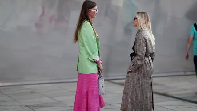 Guests are seen outside Designers Remix during the Copenhagen Fashion Week Spring/Summer 2019 on August 9 2018 in Copenhagen Denmark