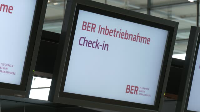 guests arrive at check.in counter in the main departures hall on the first day of operation for the new ber berlin brandenburg airport on october 31,... - airport check in counter stock videos & royalty-free footage