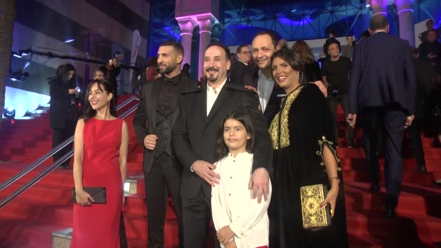 guests arrive for the opening ceremony of the 29th carthage film festival on november 03 2018 in tunis - carthage tunisia stock videos & royalty-free footage