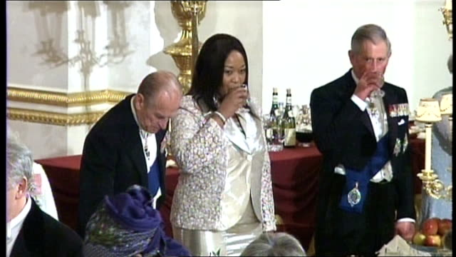 guests at banquet including zuma and wife standing for toast - banquet stock videos & royalty-free footage