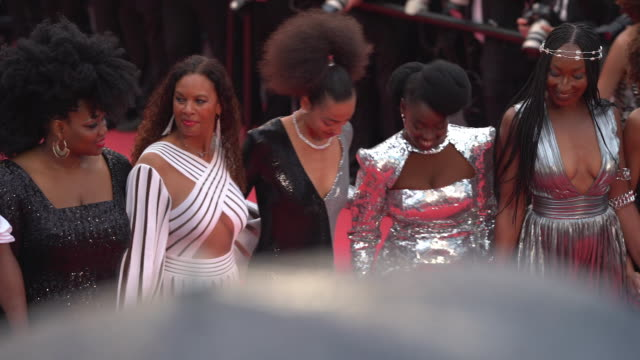 stockvideo's en b-roll-footage met guests at 'burning' red carpet arrivals the 71st annual cannes film festival at grand theatre lumiere on may 16 2018 in cannes france - filmfestival