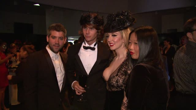 guests at lady gaga fame eau de parfum launch event at solomon r. guggenheim museum on september 13, 2012 in new york, new york - parfum stock-videos und b-roll-filmmaterial