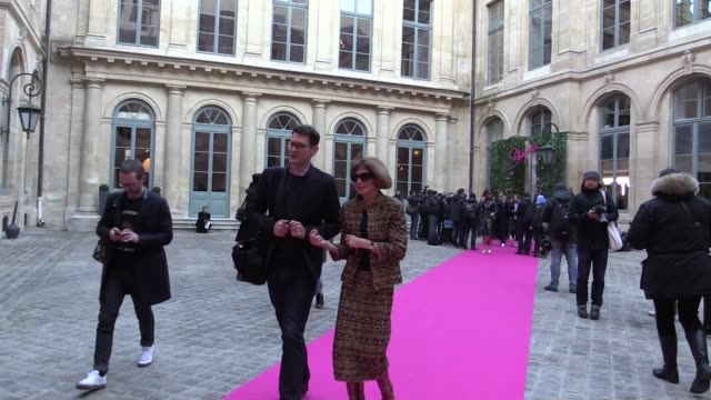 Guests at Schiaparelli Haute Couture Fashion Show Among them Anna Wintour Christian Louboutin Carine Roitfeld Olivia Palermo Valerie Lemercier Naty...