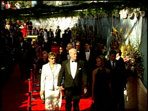 guests at the 1999 academy awards at the shrine auditorium in los angeles, california on march 21, 1999. - 71st annual academy awards stock videos & royalty-free footage