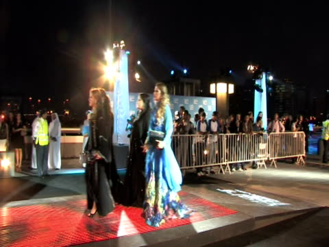 guests at the doha tribeca film festival 2009 - day 1 highlights at doha . - day 1 stock videos & royalty-free footage