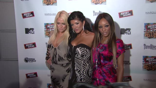 guests at the 'jersey shore' soundtrack release party at new york ny - soundtrack stock videos & royalty-free footage