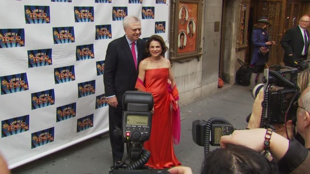 guests at the opening of 'lend me a tenor' arrivals at new york ny - lend me a tenor stock-videos und b-roll-filmmaterial