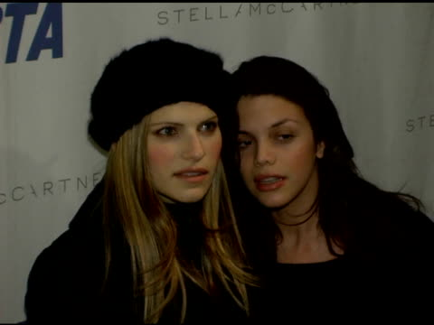 Guests at the PETA's Fashion Week Bash Hosted By Pamela Anderson at Stella McCartney Store in New York New York on February 3 2006