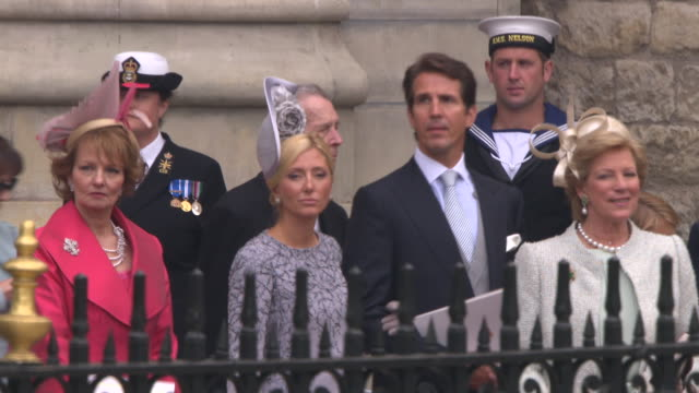 guests at the royal wedding departures westminster abbey a camera at london england - guest stock videos & royalty-free footage