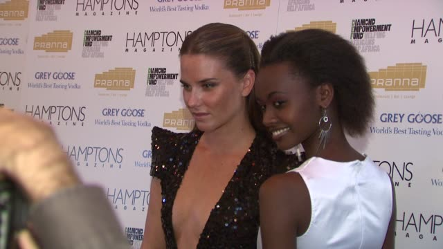 guests at the serena williams hosts hamptons magazine cover party with grey goose at new york ny. - グレイグース点の映像素材/bロール