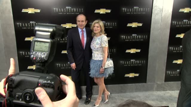 """guests at """"transformers: age of extinction"""" new york premiere at ziegfeld theatre on june 25, 2014 in new york city. - new age stock videos & royalty-free footage"""