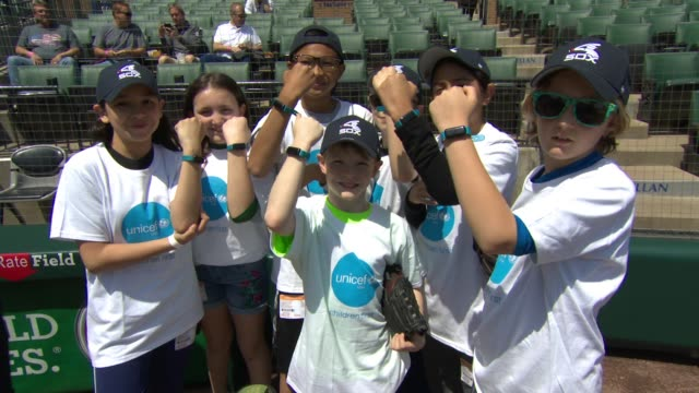 Guests at UNICEF Kid Power Day At The Chicago White Sox at Guaranteed Rate Field on May 06 2018 in Chicago Illinois