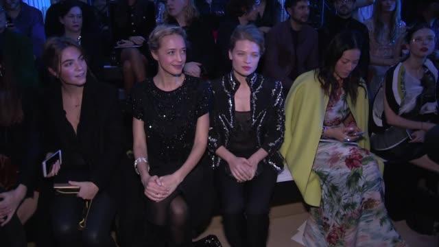 Guests at Zuhair Murad Haute Couture Fashion Show Among them Melanie Thierry Helene de Fougerolles Malika Menard Vanessa Demouy Samira Lachhab...