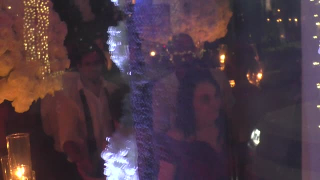 vídeos de stock e filmes b-roll de guests attend quentin tarantino & daniela pick's wedding reception at mr. chow in los angeles in celebrity sightings in los angeles, - quentin tarantino