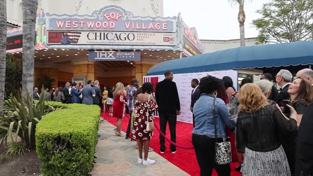 """guests attend the premiere of cinelife entertainment's """"chicago: america's hidden war"""" at the regency village theatre on may 06, 2021 in los angeles,... - westwood neighborhood los angeles stock videos & royalty-free footage"""