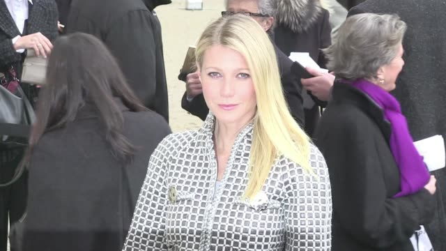 Guests attending the Chanel Haute Couture Fashion Show in Paris among them The always beautiful actress Gwyneth Paltrow and Monica Bellucci on...